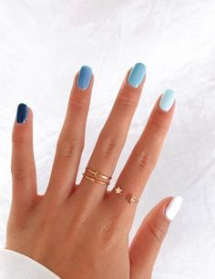 Simple Acrylic Nails, Summer Acrylic Nails, Best Acrylic Nails, Acrylic Nail Designs, Summer Nails, Summer Nail Colors, Acrylic Nails Pastel, Gel Nail Colors, Cute Nail Designs