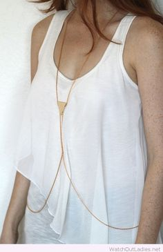 Body chains and white top