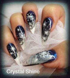 Snow and star by boloroo - Nail Art Gallery nailartgallery.nailsmag.com by Nails Magazine www.nailsmag.com #nailart