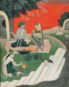 Christie's Catalog http://www.christies.com/PDF/catalog/2016/CKS12471_SaleCat.pdf  RAMA AND SITA IN THEIR FOREST ABODE PROBABLY GULER, NORTH INDIA, CIRCA 1800