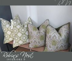 Spice up your rooms with designer scatter cushions. Perfect for adding colour and character to the room. Like these gorgeous cushions available at Scatter Cushions, Throw Pillows, Interior Photo, Interior Design, Spice Things Up, Robin, Colour, Bed, Character