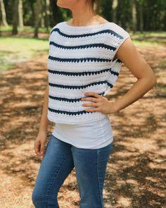 The Striped Summer Tee Crochet Pattern by BrennaAnnHandmade - Hobium Blog
