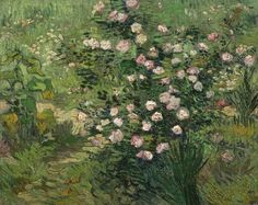 Vincent van Gogh (Dutch Post-Impressionist painter, 1853–1890) Roses, 1889. Oil on canvas, 12.99 x 16.26 in (33.0 x 41.3 cm). National Museum of Western Art, Tokyo, Japan.