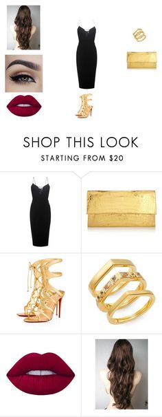 """""""Avenger Tony #2"""" by victoriahoegh ❤ liked on Polyvore featuring Victoria Beckham, Nancy Gonzalez, Christian Louboutin, Elizabeth and James and Lime Crime"""