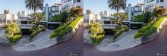 Hairpin turns one-block section of the Lombard street, San Francisco