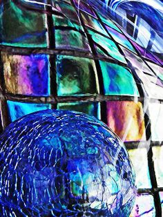 Glass Abstract 490 by S Loft