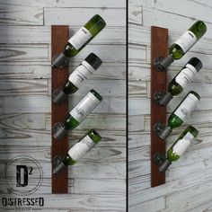 Black Iron Pipe Wine Rack by DesignDistressed on Etsy, $100.00