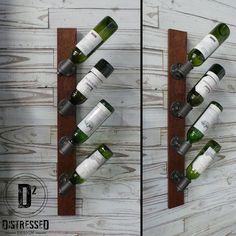 Black Iron Pipe Wine Rack by DesignDistressed on Etsy, $100.00