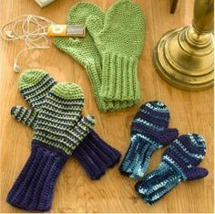 Crochet Mittens for everyone in the family