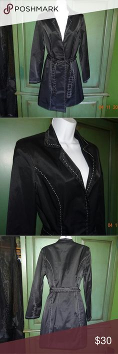 Express Black Trench Coat Express Black Trench Coat Woman's size medium  Used but good condition Express Jackets & Coats Trench Coats