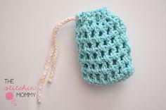 The Stitchin' Mommy: Easy Mesh Soap Saver - free crochet pattern.