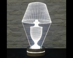 This lampshade shaped LED lamp has an amazing effect. You can use it as home decor, table lamp, night light etc. It creates different ambience in your rooms. Innovative LED lamp that tricks. Light Table, Lamp Light, Nursery Lighting, Concrete Lamp, Light Project, Led Lamp, Light Decorations, Home Decor Accessories, Night Light