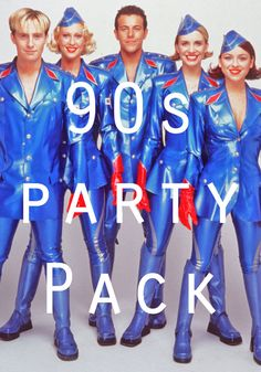 90s Party Decorations Pack - Posters, Balloons, bunting etc