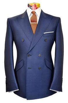 The Mollison Prussian Blue Birdseye Suit