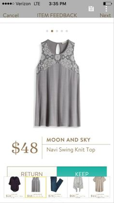 Moon and Sky Navi Swing Knit Top