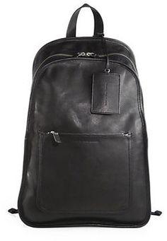 Leather Backpack on shopstyle.co.uk