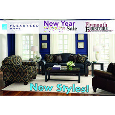 Start the NEW YEAR with Flexsteel! Enjoy savings on our furniture including bedroom, dining room, & occasional furniture. Going on NOW at Plymouth Furniture & Bedding Showrooms (through Monday, January Sheboygan Falls, Steel House, Furniture Sale, Plymouth, Bedding, January, Dining Room, Sofa, Bedroom