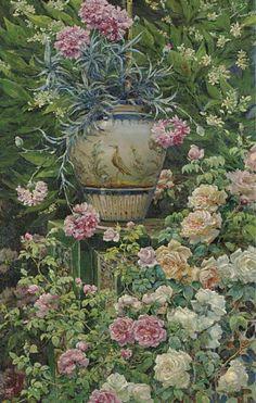 The Rose Garden -   Manuel García Rodríguez  Spanish 1863-1925