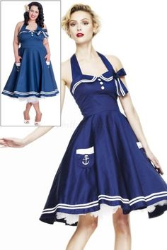 Motley's Nautical Sailor NAVY BLUE 50's Dress | Dresses