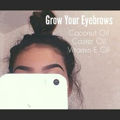 How to grow out your eyebrows: Youll need Coconut Oil, Caster Oil, and Vitamin E Oil, mix them together in a container and apply on eye brows every day before you go to sleep. Youll notice results in the first week you start. *Can also be used for eyelashes*  Disclamer: does not work on everyone