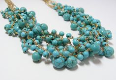 Multi-strand Turquoise Howlite Necklace
