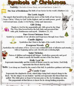 Christmas symbols and meaning | CHRISTmas Cheer! | Pinterest | Symbols