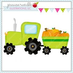 *DAILY FREEBIE!* Pumpkin Farm Tractor 9-10-2013