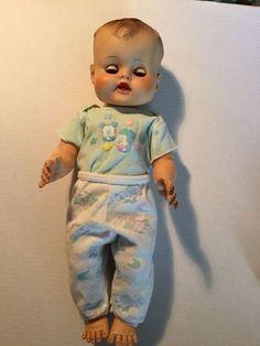 Eugene Doll Co. Vintage 1950's 1960's RARE drink and wet sleepy blue eyes