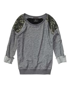 Festive Party Sweater With Sequin Shoulders Womens Clothing Sweaters at Maison  Scotch - Official Scotch Soda Online Fashion Apparel .