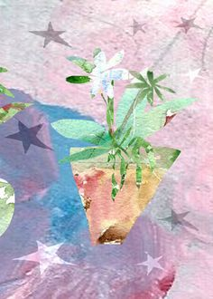 An Astral Bouquet flowering plant print by ImYourNonny on Etsy, $12.00