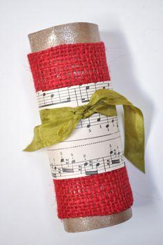 music sheet napkin ring