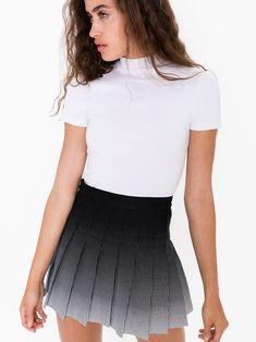 Printed Tennis Skirt in White Black Ombre - American Apparel Tennis Skirts, Tennis Clothes, American Apparel Tennis Skirt, College Fashion, Rock, Printed Skirts, Types Of Fashion Styles, Women's Fashion Dresses, Mini Skirts