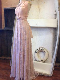 Lace or Chiffon Long Infinity Wrap DressChoose by CoralieBeatrix