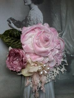 victorian,shabby chic, brooch,corsage,hair Great idea for Barb. Maybe make a horse thing …