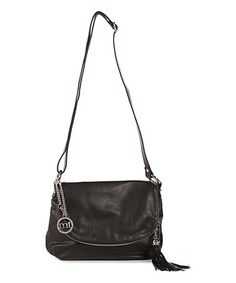 Another great find on #zulily! Black Pebbled Leather Crossbody Bag #zulilyfinds