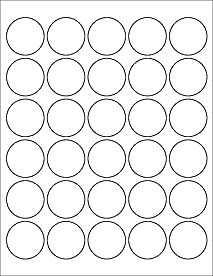 "Standard White Matte - Round Labels - Circle Labels - OL2088 - 1.5"" Circle  $16.95 for 1,000 (not that I'll need that many)"