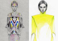 fashion illustrations by cedric rivrain