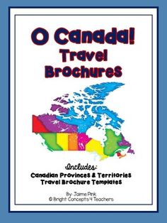 Are you looking for a fun and creative way to help your students learn about… Travel Brochure Design, Travel Brochure Template, Canadian Travel, O Canada, Student Learning, Social Studies, Curriculum, Students, Science