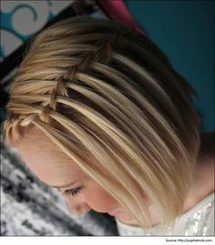 DIY Hairstyles: For Short Hair. Quick and easy updo for teens. Beauty Tips and T… DIY Hairstyles: For Short Hair. Quick and easy updo for teens. Beauty Tips and Tricks. French Braid Hairstyles, Teen Hairstyles, Party Hairstyles, French Braids, Blonde Hairstyles, Hairstyles Haircuts, Glamorous Hairstyles, Quick Hairstyles, Latest Hairstyles