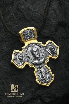 9bdadaf1da5d Крест нательный православный. Спас нерукотворный. Ангел Хранитель.  Петербургский. Серебро, золочение.