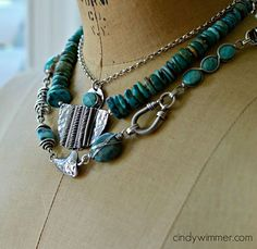 Wire and metalwork necklaces by Cindy Wimmer