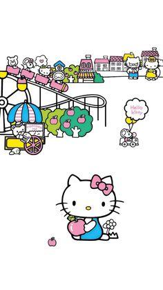 Sanrio, Hello Kitty, Snoopy, Wallpaper, Illustration, Fictional Characters, Illustrations, Wallpapers, Wall Decal