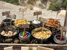 Trail Mix Station | would be a great idea for camping or for an event #scouts #snacks
