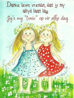 quenalbertini: Best friends by Virpi Pekkala My Best Friend, Best Friends, Happy Friendship Day, Friendship Quotes, Sisters In Christ, Soul Sisters, Beautiful Friend, Whimsical Art, Frases