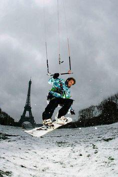 Paris Snowkite #Redbull