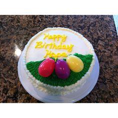 Hope's Easter-themed birthday cake.
