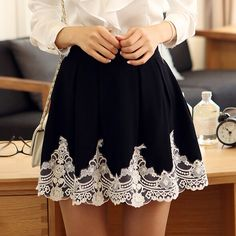product image Little Girl Skirts, Comic Clothes, Smart Casual Wear, Cute Comfy Outfits, Vintage Mode, Dress To Impress, Lace Skirt, Fashion Dresses, Mini Skirts