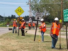 Members of the Summer Youth working on site at MDOT.