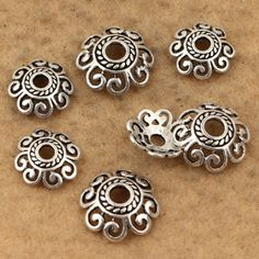 10pcs-5.5mm 8mm 10mm 12mm Sterling silver bead caps,flower bead caps