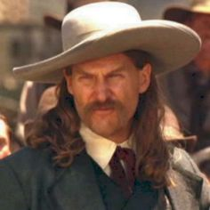 """Jeff Bridges may bear the best physical resemblance to the historical James Butler Hickok, and stands tall as Hickok in Walter Hill's """"Wild Bill"""" And, yes, there are some photos that show the real Hickok wearing his hat with the upbrim tilt. Jeff Bridges Western, Western Movies, Western Film, Cowboys And Indians, Cowboys 4, Tom Selleck, The Lone Ranger, Tv Westerns, Best Western"""
